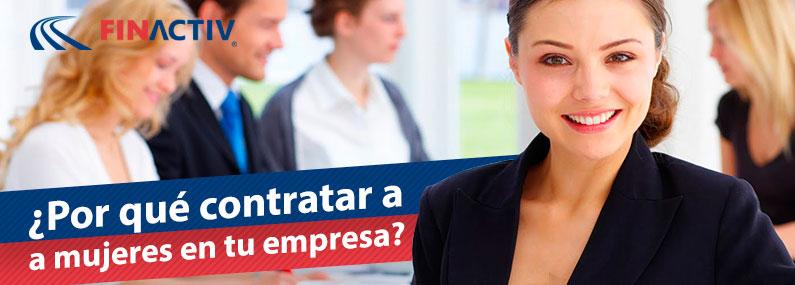 Animate a contratar mujeres en tu empresa